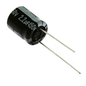 Elektrolytický kondenzátor radiální E 2.2uF/450V 10x13 RM5 85°C Jamicon SKR2R2M2WG13M