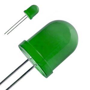 LED dioda 10mm zelená 60° difúzní KINGBRIGHT L-813GD