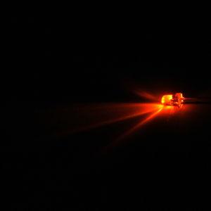 LED 3mm oranžová samoblikací 3000mcd/30° čirá Optosupply OSO5RS3131A