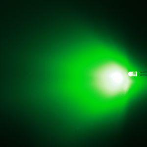 LED oválná 3,9x3,1mm zelená 3000mcd/(110/50°) difúzní Hebei 3751PG2D-SB