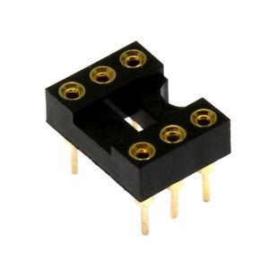 Precizní patice pro IO 6 pinů úzká DIL6 Xinya 126-3-06RG
