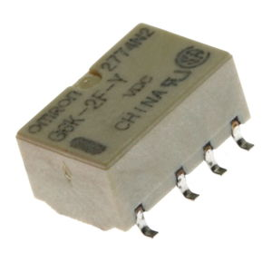 Elektromagnetické relé s DC cívkou SMD 5VDC 0.3A/125VAC Omron G6K-2F-Y 5VDC