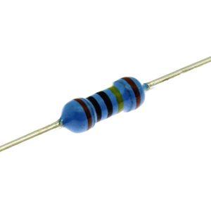 Metalizovaný rezistor 0207/0,6W 6R8 ohm 1% Yageo MF0207FTE52-6R8