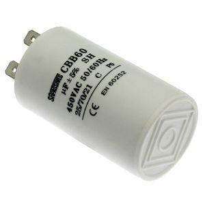 Rozběhový kondenzátor CBB60A 20uF/450V ±5% Faston 6.3mm SR PASSIVES CBB60A-20/450